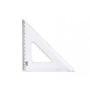 Esquadro 45° 26Cm Cristal Polibras