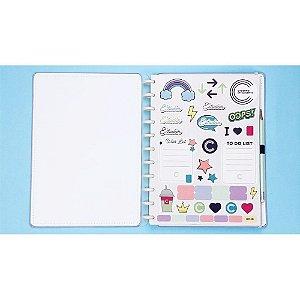 Folha De Adesivos Cool A4 Caderno Inteligente