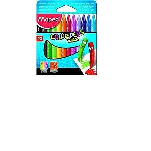 Giz De Cera Color Peps Jumbo Cx C/12 Cores Maped