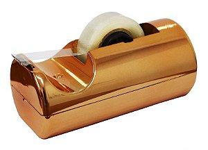 Suporte Para Fita Adesiva Pequeno Metalizado Cobre Waleu