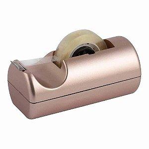 Suporte Para Fita Adesiva Pequeno Metalizado Rose Waleu