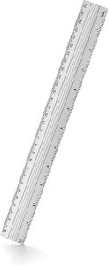 Regua De Aluminio 30Cm Waleu