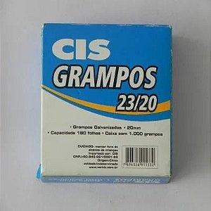 Grampo 23/20 Aco Galvanizado Cx C/1000 Cis