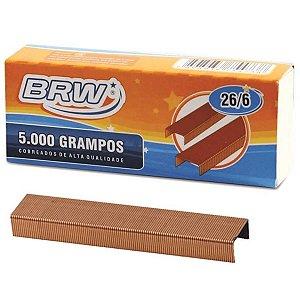 Grampo Cobreado 26/6 Cx C/5000 Grampos Brw