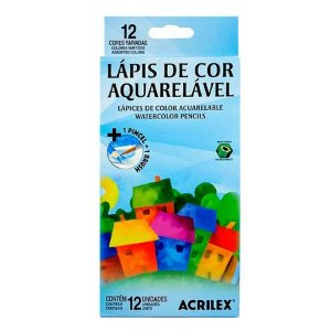 Lapis De Cor Aquarelavel 12 Cores Acrilex