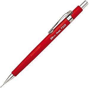 Lapiseira P209-Fr 0,9Mm Vermelha Pentel