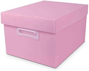 Caixa Organizadora The Best Box G Novaonda Rosa Pastel Polibras