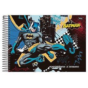 Caderno Cartografia Espiral 96F Batman Capa Sortida Foroni