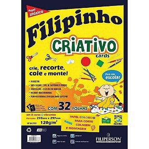 Papel Criativo Filipinho A4 32F 5 Cores Filiperson