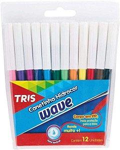 Lapis Hidrocor Wave 12 Cores Tris