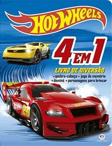 Livro Hot Wheels 4 Em 1 - Livro De Diversao Ciranda Cultural