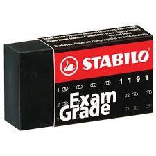 Borracha 1191/36 Grade Preta Stabilo