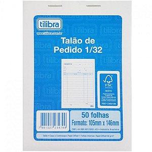 Talão de Pedido Sem Cópia 1/32 50F Tilibra