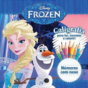 Livro Caligrafia Numeros Com Neve Frozen Rideel