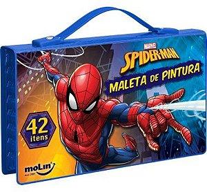 Maleta De Pintura Spider Man 42 Itens Molin