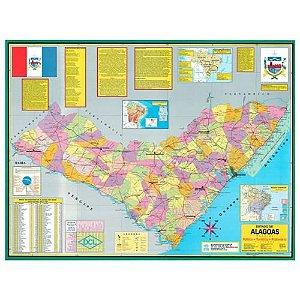 Mapa Alagoas Escolar Politico 120X90Cm Multimapas