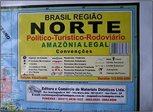 Mapa Regiao Norte Escolar Politico 120X90Cm Multimapas