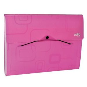 Pasta Sanfonada A4 12Div Smile Pink Dello