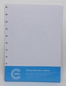 Refil Grande Pontilhado 30 Folhas 120g Caderno Inteligente