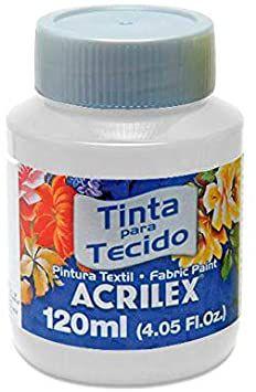 TINTA TECIDO FOSCA 120ML BRANCO (519) ACRILEX