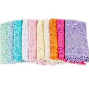 Toalha Escolar Com Franja 20X38Cm Sortido Efeito Textil