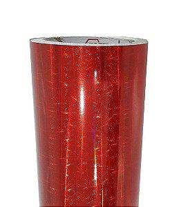Vinil Holografico H62 Vermelho 0,60M