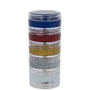 Tinta Facial Kit C/5 Cores Glitter Cremoso Color Make