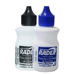 Tinta P/ Almofada De Carimbo 40Ml Radex