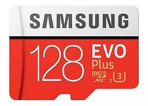 CARTAO SAMSUNG MICROSD EVO PLUS 128GB 100MBS 4K