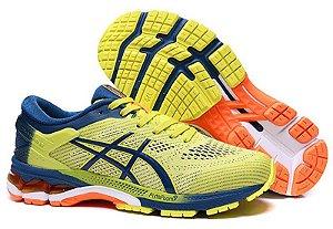 Tênis Asics Gel-kayano 26 - Masculino - Amarelo e Azul