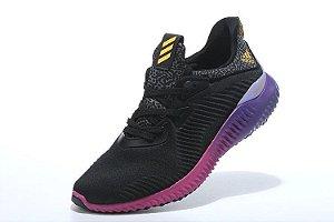 Tênis Adidas AlphaBounce - Masculino - Preto/Roxo