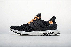 Tênis Adidas Ultraboost 4.0 - Masculino - Preto e Laranja