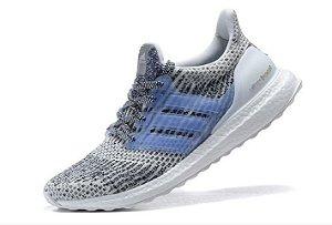 Tênis Adidas Ultra Boost - Feminino - Cinza/Azul Claro