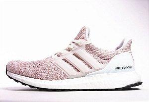 Tênis Adidas Ultraboost 4.0 Feminino - Rosa e Branco