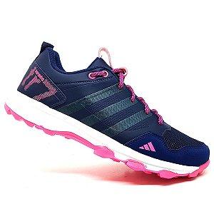 Tênis Adidas Kanadia TR7 Azul Marinho e Rosa