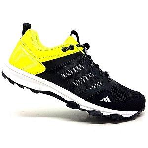 Tênis Adidas Kanadia TR7 Preto e Amarelo