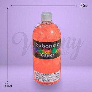 640 - Sabonete Líquido Glitter Rosa 1L
