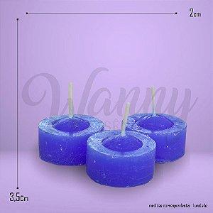 Vela Rechaud Azul C/6