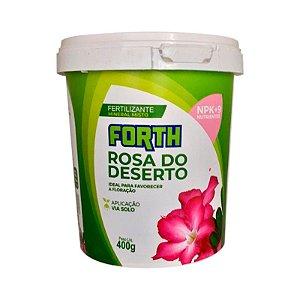 ADUBO PARA FLORAÇÃO DE ROSA DO DESERTO FORTH 400 G