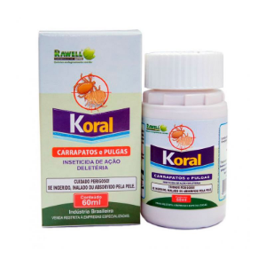 Koral Pulgas e Carrapatos 60 ml