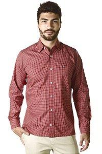 Camisa Xadrez - Manga Longa Slim | Algodão 100% - Fio 80