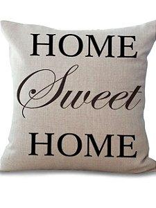 Almofada de Linho - Home Sweet Home