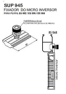 Terminal SUP945 - fixador do microinversor para perfis das série ES e PAR 825