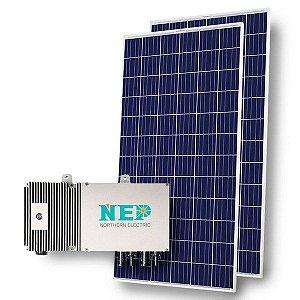 Gerador Fotovoltaico com microinversor NEP BDM-600 e  2 módulos de 340W policristalinos