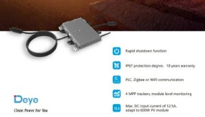 Microinversor DEYE SUN2000-G3-220Vca com 4 mppt's