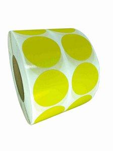 -Etiqueta 5x5/2 Rolo c/ 5000 Amarelo
