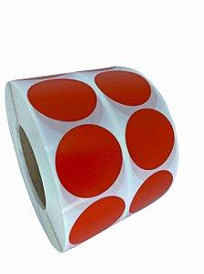 -Etiqueta 5x5/2 Rolo c/ 5000 Vermelho