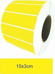 -Lacre para Personalizar 10x3 Amarelo Rolo C/3000