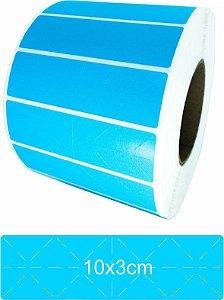 -Lacre para Personalizar 10x3 Azul Rolo C/3000