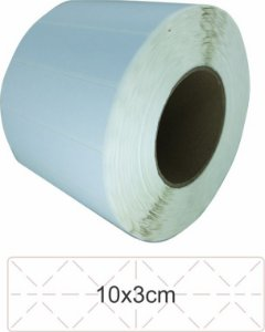 -Lacre para Personalizar 10x3 Branco Rolo C/3000